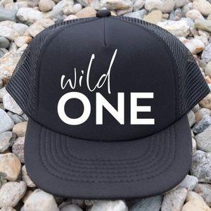 Wild One trucker hat black white
